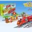 บล๊อก ชุดตัวต่อรถไฟ เทียวละครสัตว์ แบบกล่อง 47 ชิ้น Motor Functions Big Size Train Set With Light & Sound thumbnail 1