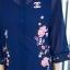 ชุดเซ็ท ด้านในเป็นซับในเสื้อกล้ามเนื้อดี มาพร้อมเดรสเชิ๊ตตัวยาว คอจีน พิมพ์ลายสวยหรู thumbnail 15