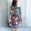 ชุดเซ็ต เสื้อคลุมทรงยาว + เดรสแขนกุด พิมพ์ลายดอกไม้ thumbnail 10