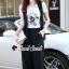 เสื้อผ้าเกาหลี พร้อมส่ง เสื้อคลุมกับกางเกงทรงปล่อย thumbnail 12