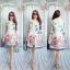 ชุดเซ็ต เสื้อคลุมทรงยาว + เดรสแขนกุด พิมพ์ลายดอกไม้ thumbnail 6