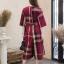 ชุดจั้มสูท ผ้าคอทต้อนเกาหลีทอลายเบอเบอรี่ คอ V thumbnail 4