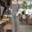 ุดเซ็ทเสื้อ+กางเกงเอวสูงขาบาน thumbnail 5