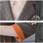 ชุดเซ็ตเสื้อสูท+กางเกง เนื้อผ้าสูทลายสก็อตอย่างดีพร้อมซับในสีส้มตัดกับลายสวยม๊าก thumbnail 8