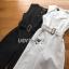 ุขุดจั๊มสูท ผ้าเครปพร้อมเข็มขัด ทรงคอวีปาดข้าง กางเกงทรงขากว้าง thumbnail 7
