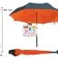 ร่มหุบกลับด้าน 2 ชั้น ร่มกลับด้าน ร่มหน้าฝน invert umbrella สามารถใช้ได้ทุกฤดูกาล ขาด 24 นิ้ว -(สีส้ม/ดำ) thumbnail 1