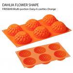 FR058AR Multi-portion Daisy 6 cavities Orange