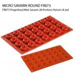 FR073 Fingerfood Mini Savarin 28 Portions Pavoni sil.red