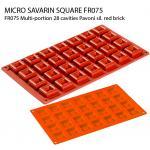 FR075 Multi-portion 28 cavities Pavoni sil. red brick