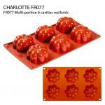 FR077 Multi-portion 6 cavities red brick
