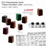 "PC21 Polycarbonate mould ""Praline Innovation"" 18*18*h.28mm"