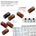 "PC03 Polycarbonate mould ""Praline Innovation"" 15*37*h.15mm"