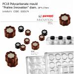 "PC18 Polycarbonate mould ""Praline Innovation"" diam.28*h.17mm"