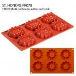 FR078 Multi-portion 6 cavities red brick