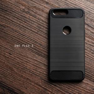 เคส ONE PLUS 5 เคสนิ่มเกรดพรีเมี่ยม (Texture ลายโลหะขัด) กันลื่น ลดรอยนิ้วมือ สีดำ