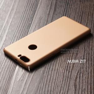 เคส Nubia Z17 เคสแข็งสีเรียบ คลุมขอบ 4 ด้าน สีทอง