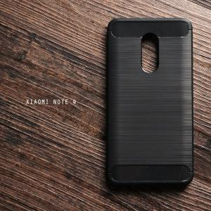 เคส Xiaomi Redmi NOTE 4 เคสนิ่มเกรดพรีเมี่ยม (Texture ลายโลหะขัด) กันลื่น ลดรอยนิ้วมือ สีดำ