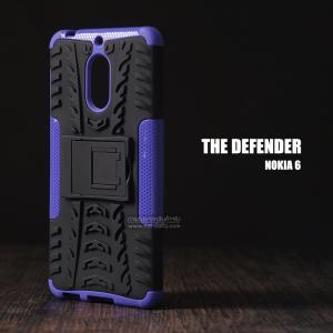 เคส Nokia 6 เคสบั๊มเปอร์ กันกระแทก Defender (พร้อมขาตั้ง) สีม่วง