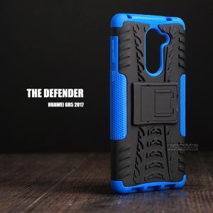 เคส Huawei GR5 2017 เคสบั๊มเปอร์ กันกระแทก Defender (พร้อมขาตั้ง) สีน้ำเงิน