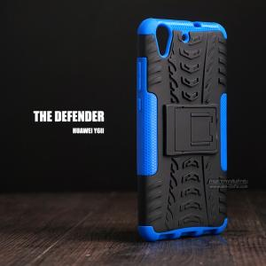 เคส Huawei Y6II เคสบั๊มเปอร์ กันกระแทก Defender (พร้อมขาตั้ง) สีน้ำเงิน