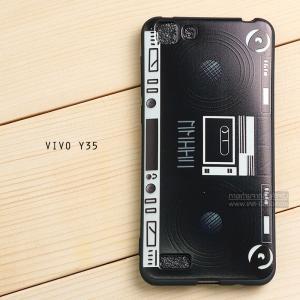 เคส Vivo Y35 เคสนิ่ม TPU พิมพ์ลาย (ขอบดำ) แบบที่ 7