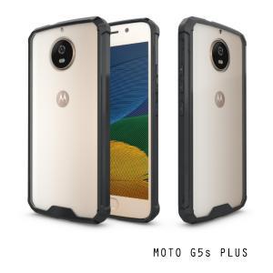 เคส Moto G5s Plus เคส Hybrid ฝาหลังอะคริลิคใส ขอบยางกันกระแทก สีดำ