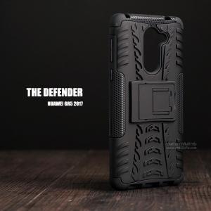 เคส Huawei GR5 2017 เคสบั๊มเปอร์ กันกระแทก Defender (พร้อมขาตั้ง) สีดำ