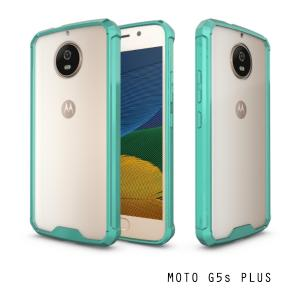 เคส Moto G5s Plus เคส Hybrid ฝาหลังอะคริลิคใส ขอบยางกันกระแทก สีเขียว