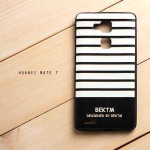 เคส Huawei Ascend Mate 7 เคสนิ่ม TPU พิมพ์ลายนูน 3D สามมิติ (Minimal Series) BEKTM Stripe
