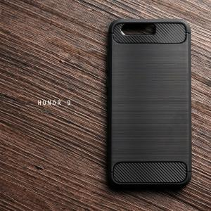 เคส Huawei Honor 9 เคสนิ่มเกรดพรีเมี่ยม (Texture ลายโลหะขัด) กันลื่น ลดรอยนิ้วมือ สีดำ