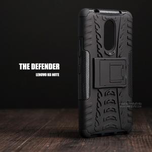เคส Lenovo K6 Note เคสบั๊มเปอร์ กันกระแทก Defender (พร้อมขาตั้ง) สีดำ