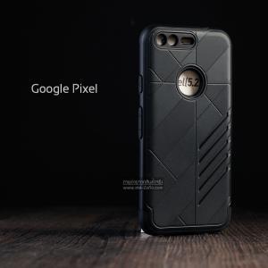 เคส Google Pixel เคสนิ่ม HYBRID 2 ชั้น ขอบหนาลดแรงกระแทก สีดำ