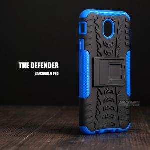 เคส Samsung Galaxy J7 Pro เคสบั๊มเปอร์ กันกระแทก Defender (พร้อมขาตั้ง) สีน้ำเงิน
