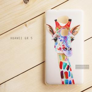 เคส Huawei GR5 เคสนิ่ม TPU พิมพ์ลาย แบบที่ 7 Colorful Giraffe