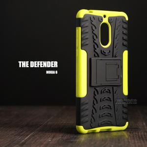 เคส Nokia 6 เคสบั๊มเปอร์ กันกระแทก Defender (พร้อมขาตั้ง) สีเขียวอ่อน