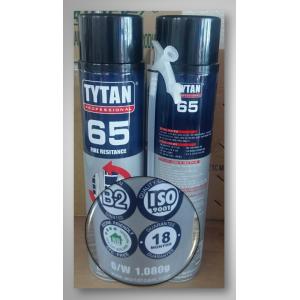 TYTAN 65 Spray Foam Fire Stop สเปรย์โฟม อุดรู อุดช่องว่างต่างๆ ป้องกันไฟลาม อุดผนังท่อแอร์ ให้ปริมาณโฟมมากกว่า 40%