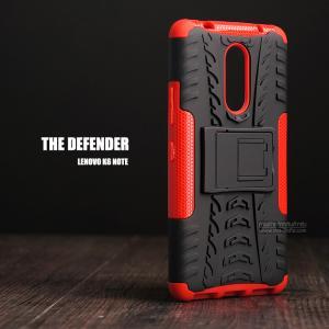เคส Lenovo K6 Note เคสบั๊มเปอร์ กันกระแทก Defender (พร้อมขาตั้ง) สีแดง