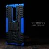 เคส Lenovo PHAB 2 Plus เคสบั๊มเปอร์ กันกระแทก Defender (พร้อมขาตั้ง) สีน้ำเงิน