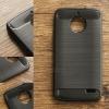 เคส Moto E4 เคสนิ่มเกรดพรีเมี่ยม (Texture ลายโลหะขัด) กันลื่น ลดรอยนิ้วมือ สีดำ