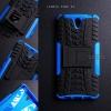 เคส Lenovo Vibe S1 เคสบั๊มเปอร์ กันกระแทก Defender (พร้อมขาตั้ง) สีน้ำเงิน
