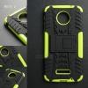 เคส Moto Z เคสบั๊มเปอร์ กันกระแทก Defender (พร้อมขาตั้ง) สีเขียวอ่อน