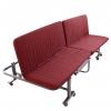 เตียงพับ 3in1 รุ่น SF01 สีแดงเลือดหมู