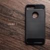 เคสสำหรับ iPhone 7 เคสนิ่มเกรดพรีเมี่ยม (Texture ลายโลหะขัด) กันลื่น ลดรอยนิ้วมือ สีดำ