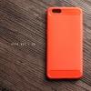 เคส OPPO A57 / A39 เคสนิ่มเกรดพรีเมี่ยม (Texture ลายโลหะขัด) กันลื่น ลดรอยนิ้วมือ สีส้ม