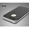 """เคส iPhone 7 Plus (5.5"""") เคส iPaky Hybrid Bumper เคสนิ่มพร้อมขอบบั๊มเปอร์ สีดำขอบเงิน"""