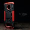 เคส Moto Z2 Play เคสบั๊มเปอร์ กันกระแทก Defender (พร้อมขาตั้ง) สีแดง