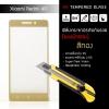 (มีกรอบ) กระจกนิรภัย-กันรอยแบบพิเศษ ขอบมน 2.5D (Xiaomi Redmi 4A) ความทนทานระดับ 9H สีทอง