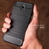 เคส Samsung Galaxy J7 Pro เคสนิ่มเกรดพรีเมี่ยม (Texture ลายโลหะขัด) กันลื่น ลดรอยนิ้วมือ สีดำ