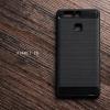 เคส Huawei P9 เคสนิ่มเกรดพรีเมี่ยม (Texture ลายโลหะขัด) กันลื่น ลดรอยนิ้วมือ สีดำ