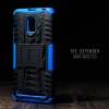 เคส Lenovo A6600 Plus เคสบั๊มเปอร์ กันกระแทก Defender (พร้อมขาตั้ง) สีน้ำเงิน